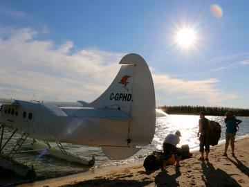 Cree River airplane