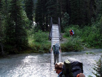 Helmet Creek suspension bridge